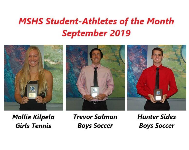 Mollie Kilpela, Trevor Salmon and Hunter Sides Named September Athletes of the Month