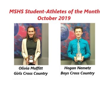 Olivia Moffitt and Hogan Nemetz Named October Student-Athletes of the Month