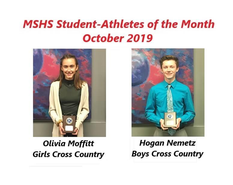 Olivia Moffitt and Hogan Nemetz Named October Student-Athletes of the Month