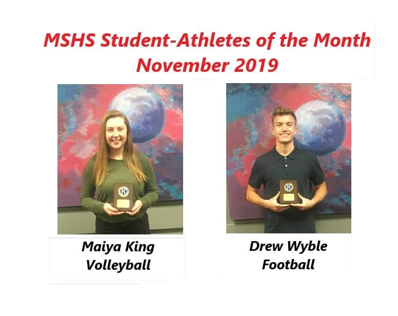 Maiya King and Drew Wyble Named November Student-Athletes of the Month