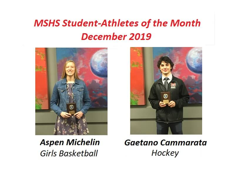 Aspen Michelin and Gaetano Cammarata Named December Student-Athletes of the Month