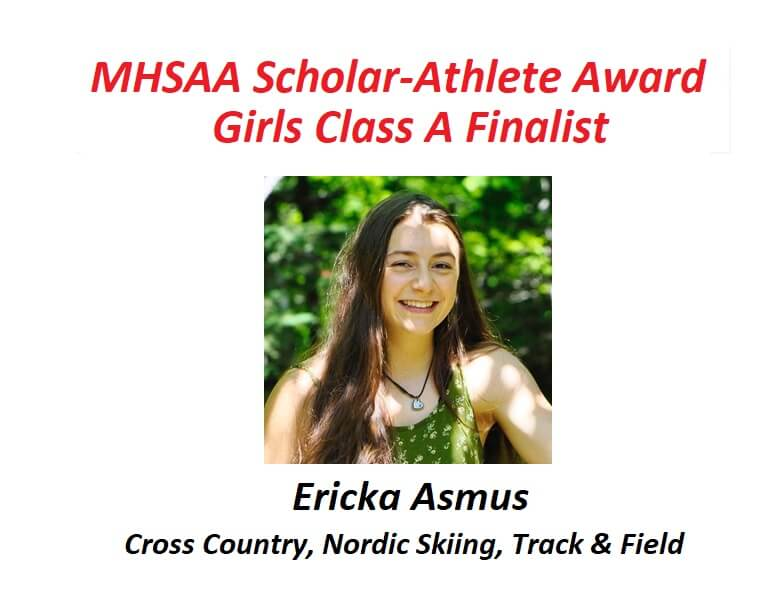 Ericka Asmus Named Finalist for MHSAA Scholar-Athlete Award