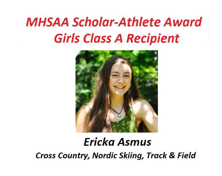 Ericka Asmus Becomes First Marquette Student To Receive MHSAA Scholar-Athlete Award