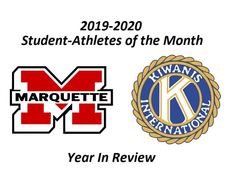 Year In Review:  2019-20 Kiwanis Student-Athletes of the Month