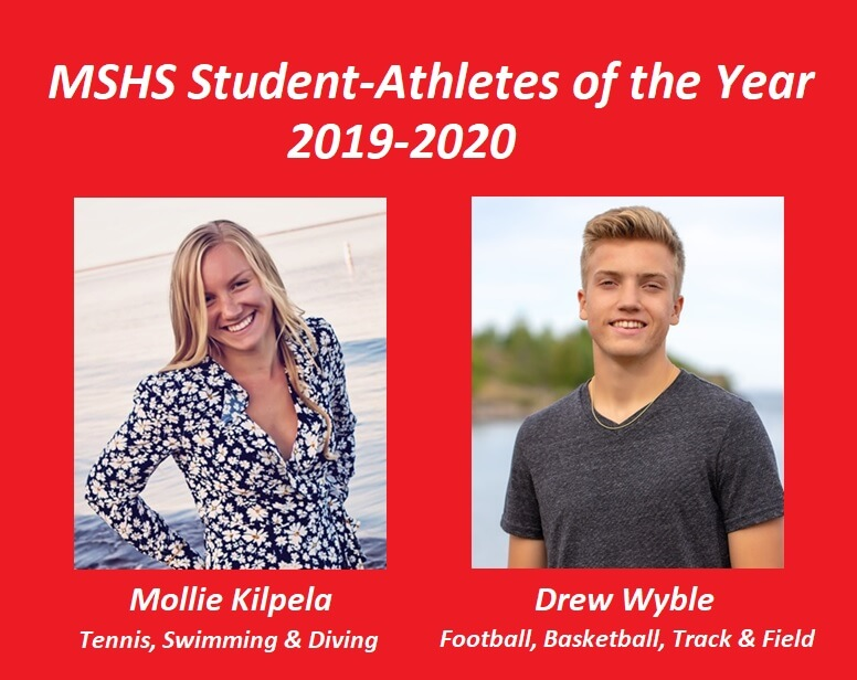 Mollie Kilpela and Drew Wyble Named Kiwanis Student-Athletes of the Year