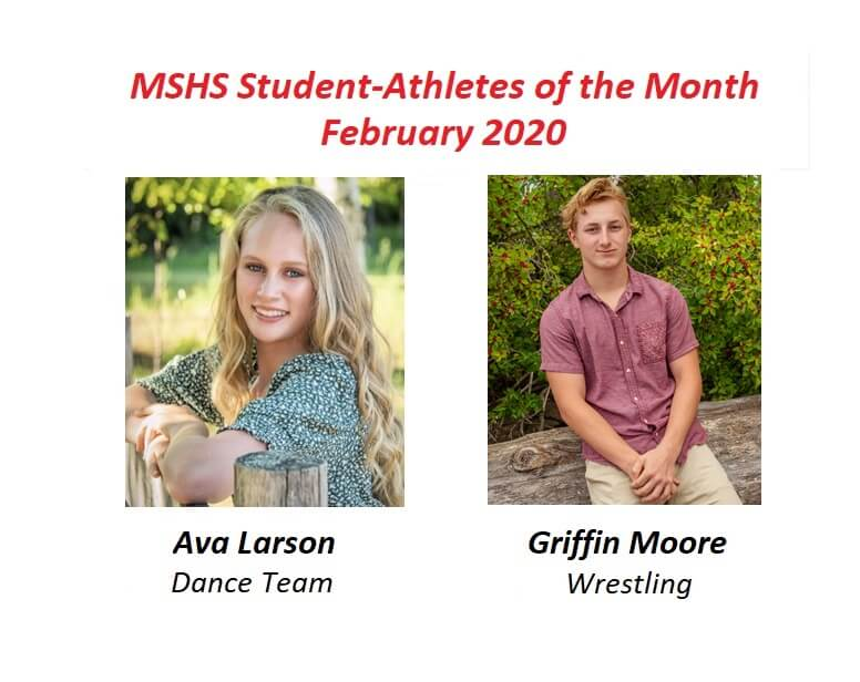 Ava Larson and Griffin Moore Honored as February Student-Athletes of the Month