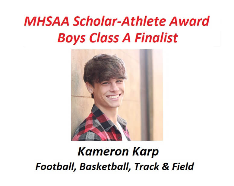Kameron Karp Named Finalist for MHSAA Scholar-Athlete Award