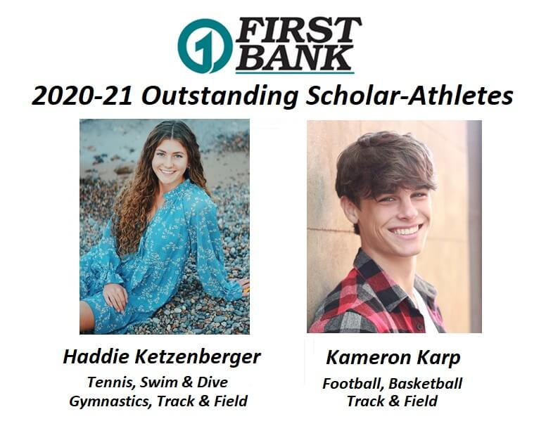 Haddie Ketzenberger and Kameron Karp Selected As First Bank Outstanding Scholar-Athletes for 2020-21
