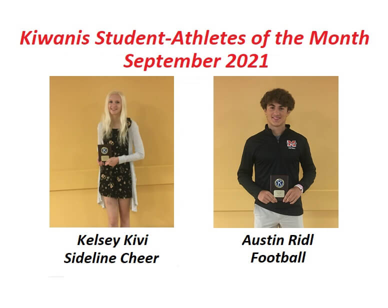 Kelsey Kivi and Austin Ridl Honored as September Student-Athletes of the Month